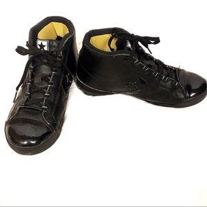 Converse Juniors All Black High Top Sneakers